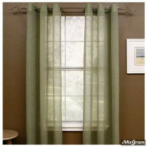 Miller Curtains Semi Sheer Green One Pair